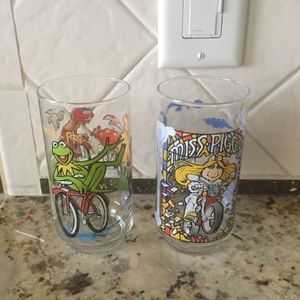 Vintage miss piggy and Kermit the frog glasses